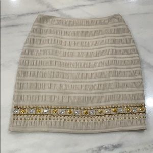 Francesca's Beaded Mini Skirt